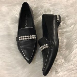 Black and Pearl Stuart Weitzman Flats/Loafers